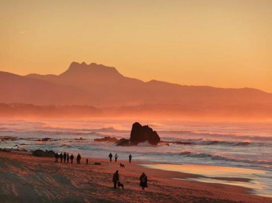 Couché de soleil sur la côte